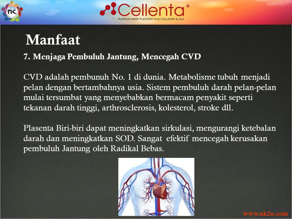 www.nk2u.com 7. Menjaga Pembuluh Jantung, Mencegah CVD CVD adalah pembunuh No.