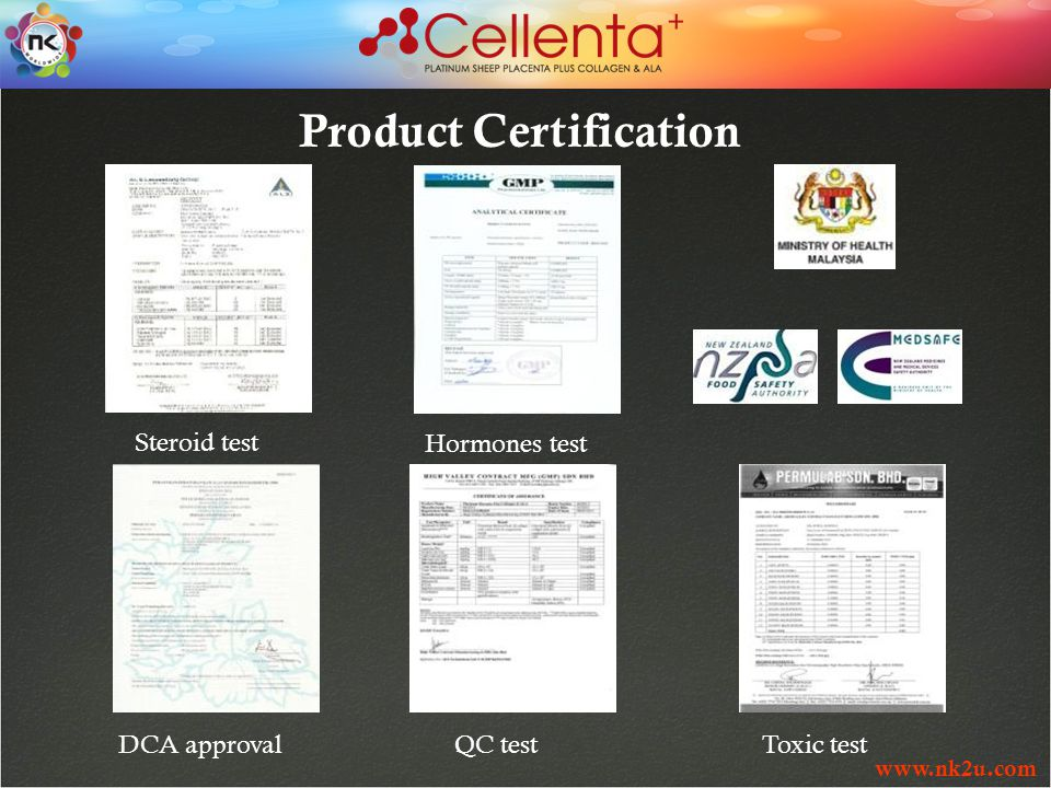 www.nk2u.com Product Certification QC testDCA approval Toxic test Steroid testHormones test