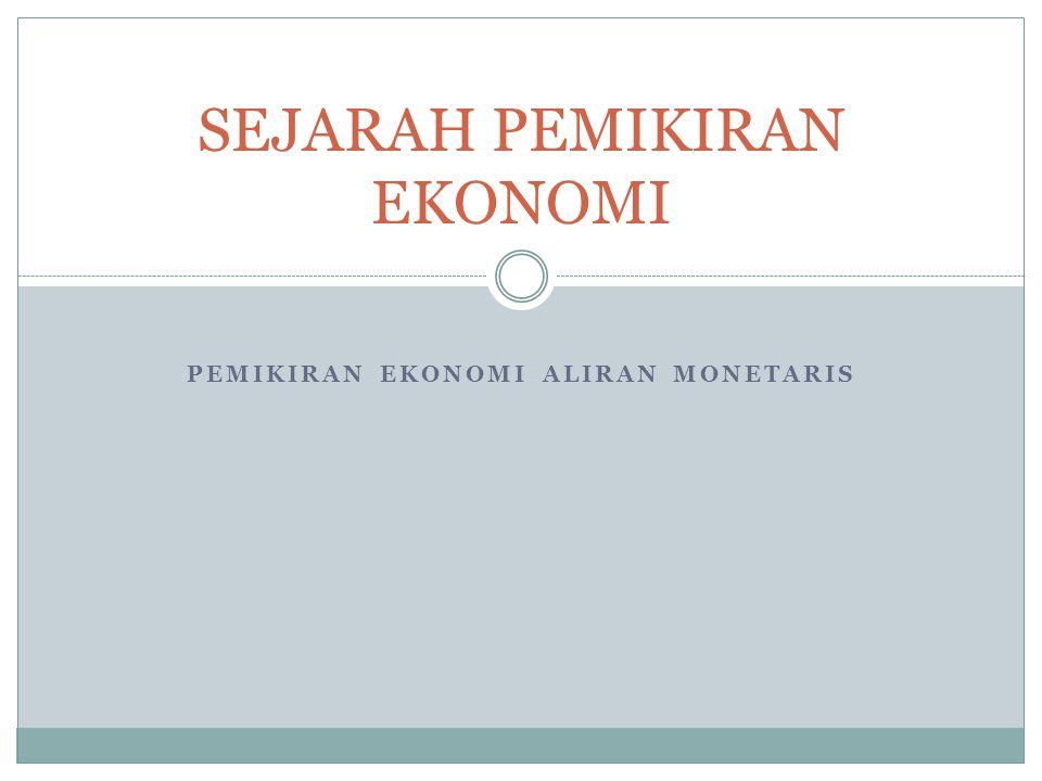 Kaum monetaris, terutama Friedman, sangat berjasa dalam menekankan arti penting laju pertumbuhan uang terhadap aktivitas-aktivitas ekonomi.