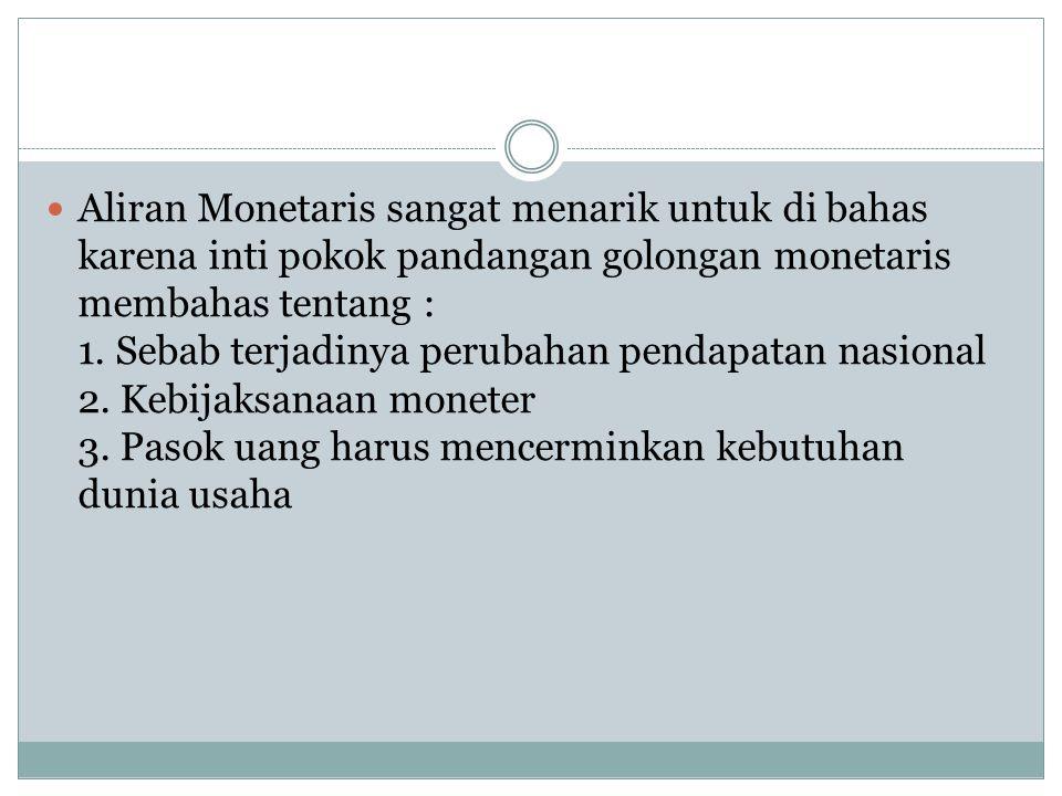 Kelemahan Dan Kelebihan Aliran Monetaris Kelemahan : 1.