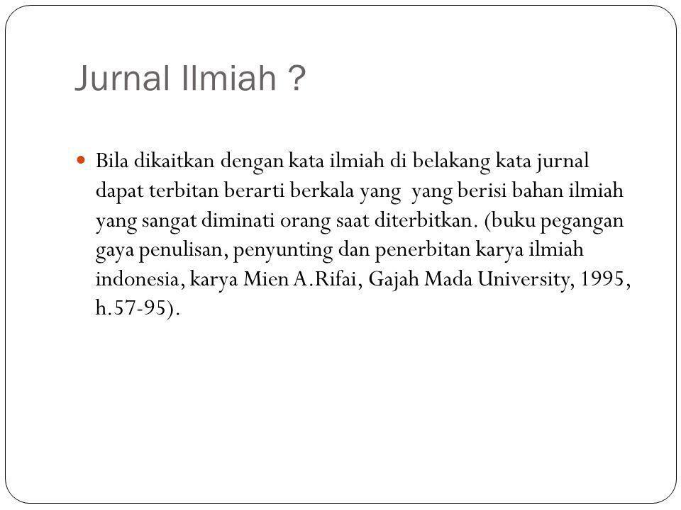 Jurnal Ilmiah .