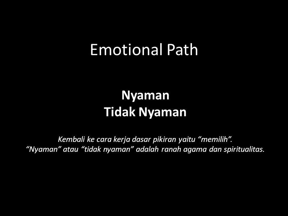 Emotional Path Nyaman Tidak Nyaman Kembali ke cara kerja dasar pikiran yaitu memilih .
