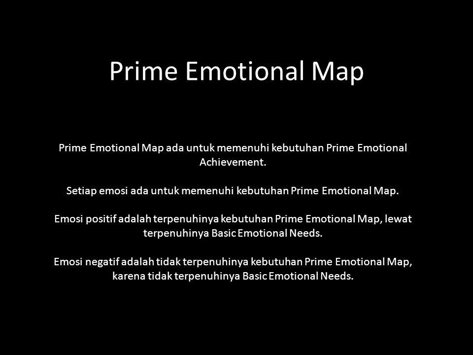 Prime Emotional Map Prime Emotional Map ada untuk memenuhi kebutuhan Prime Emotional Achievement.