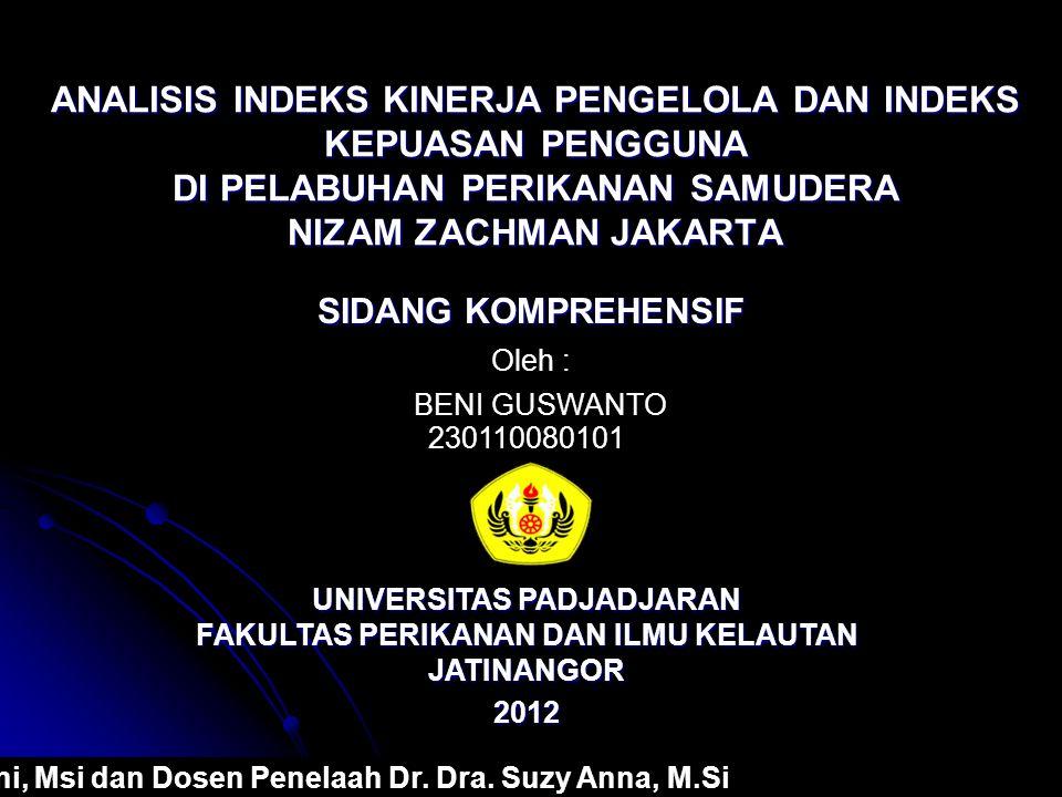 Kesimpulan Berdasarkan hasil penelitian mengenai indeks kinerja pengguna di PPS Nizam Zachman Jakarta dalam menjalankan fungsinya, diperoleh nilai persentase indeks kinerja sebesar 75,48%.