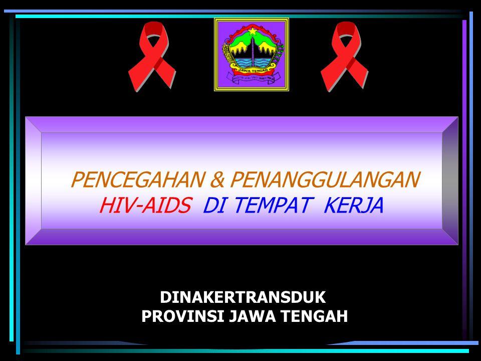 DINAKERTRANSDUK PROVINSI JAWA TENGAH PENCEGAHAN & PENANGGULANGAN HIV-AIDS DI TEMPAT KERJA