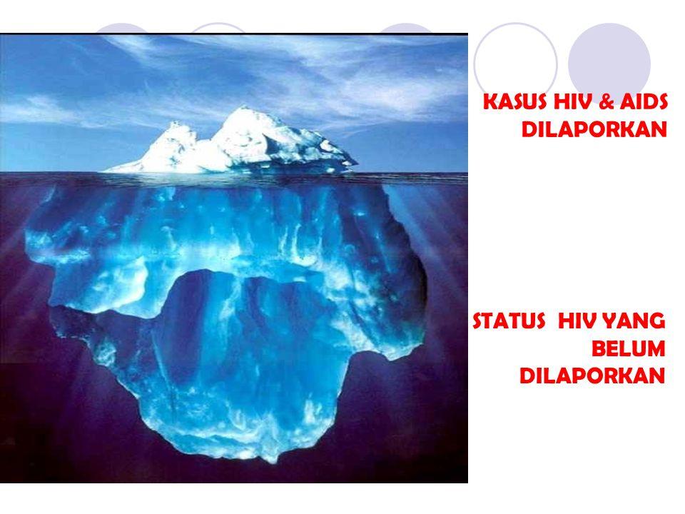 KASUS HIV & AIDS DILAPORKAN STATUS HIV YANG BELUM DILAPORKAN