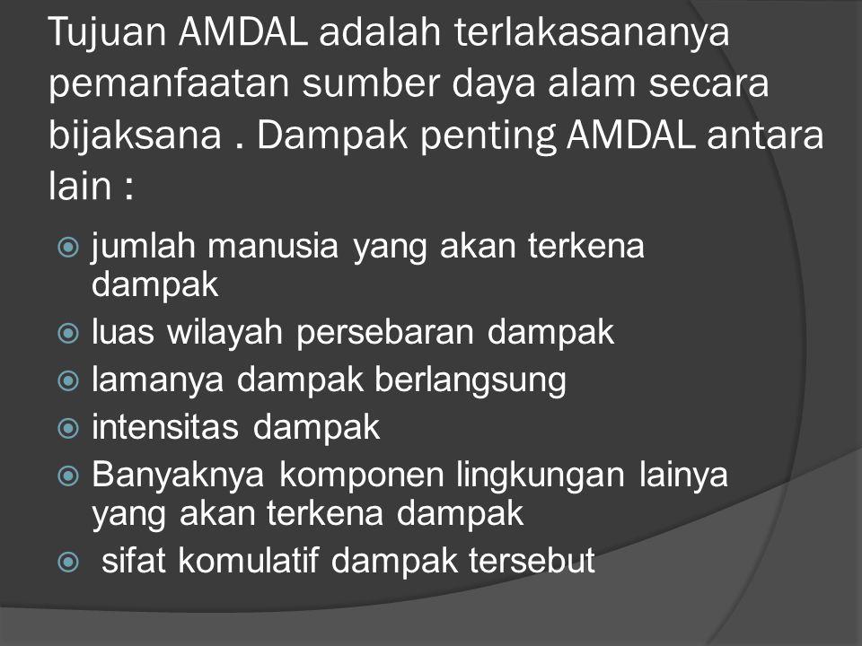AMDAL ( Analisis mengenal dampak lingkungan )  Bagi perusahaan yang proses produksinya menimbulkan polusi.Limbah, residu, atau berakibat menimbulkan gangguan lingkungan, wajib memiliki ijin AMDAL.