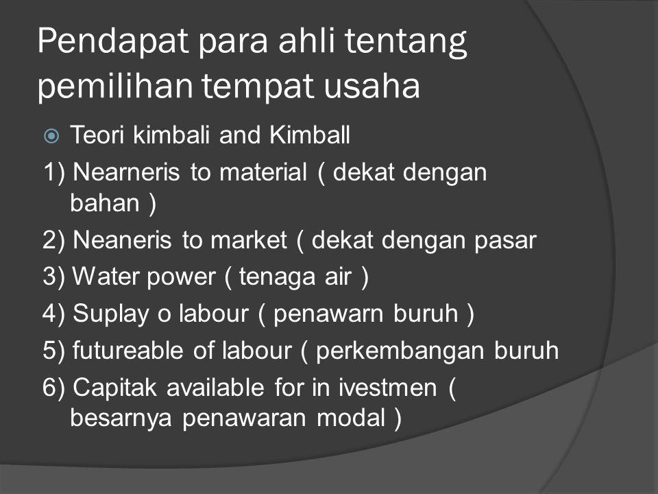 yang menjadi ukuran penetapan tempat usaha yang paling strategis adalah :  Dapat menjamin kelangsungan perusahaan  Dapat menjamin kepuasan,kebutuhan para konsumen  Adanya fasilitas pemeriintah daerah.