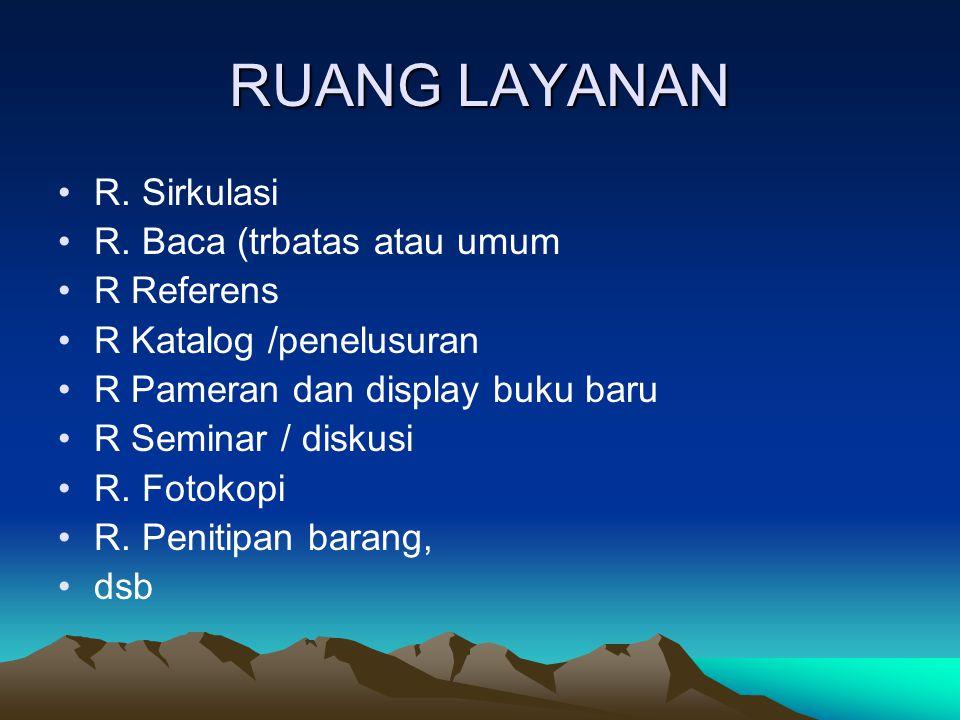 RUANG LAYANAN R.Sirkulasi R.