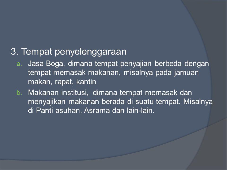 PENYEBAB KURANG BERKEMBANGNYA PENYELENGGARANAAN MAKANAN NON KOMERSIAL 1.