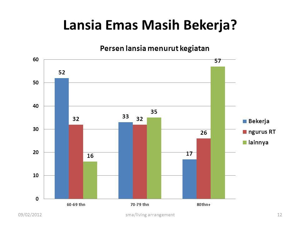 Lansia Emas Masih Bekerja 09/02/2012sma/living arrangement12
