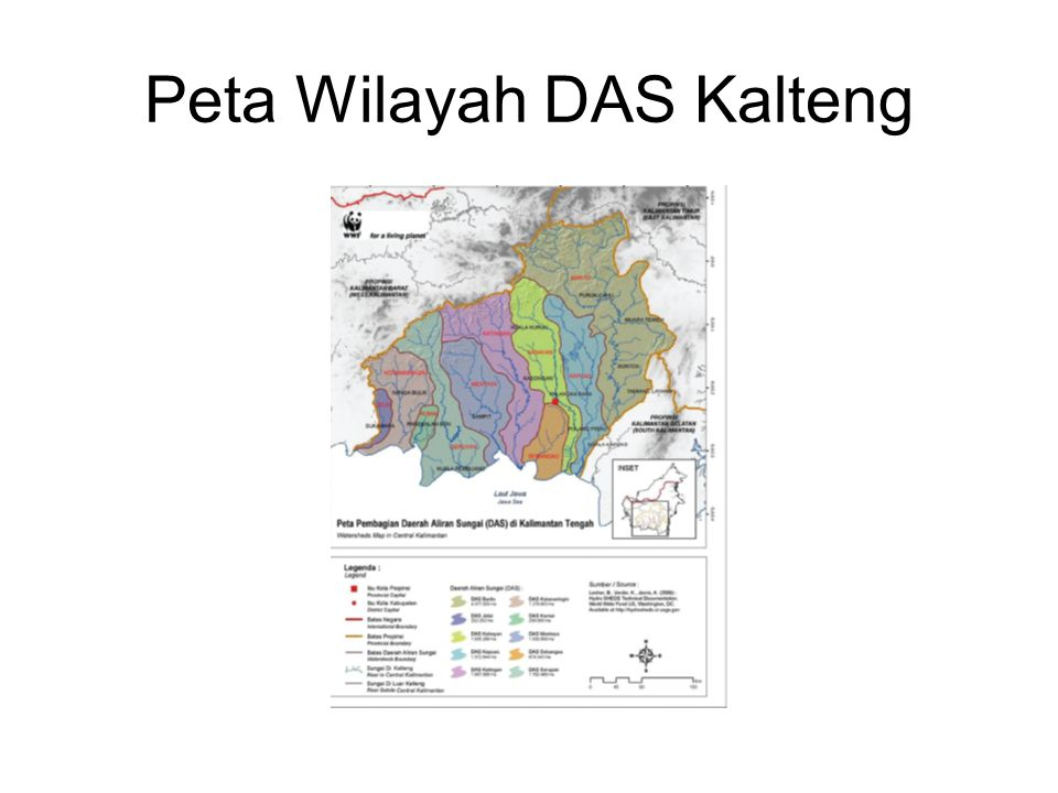 Peta Wilayah DAS Kalteng