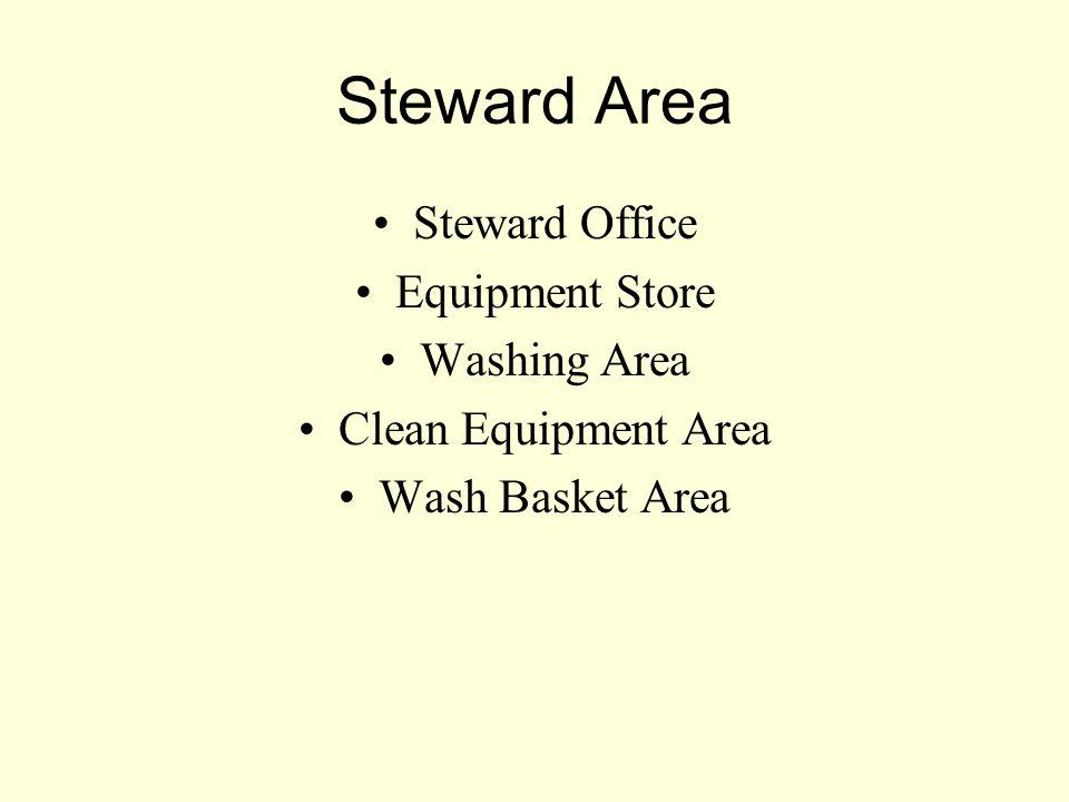 Steward Area Steward Office Equipment Store Washing Area Clean Equipment Area Wash Basket Area