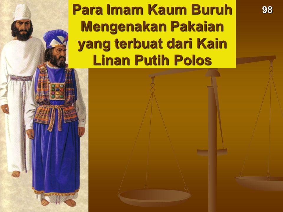 Para Imam Kaum Buruh Mengenakan Pakaian yang terbuat dari Kain Linan Putih Polos 98