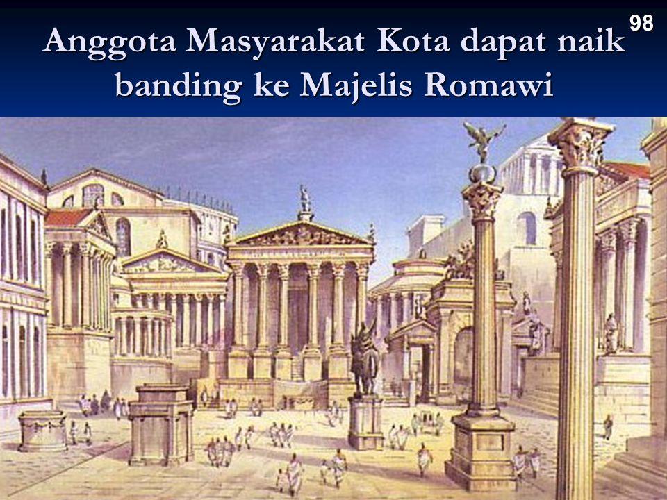 Anggota Masyarakat Kota dapat naik banding ke Majelis Romawi 98