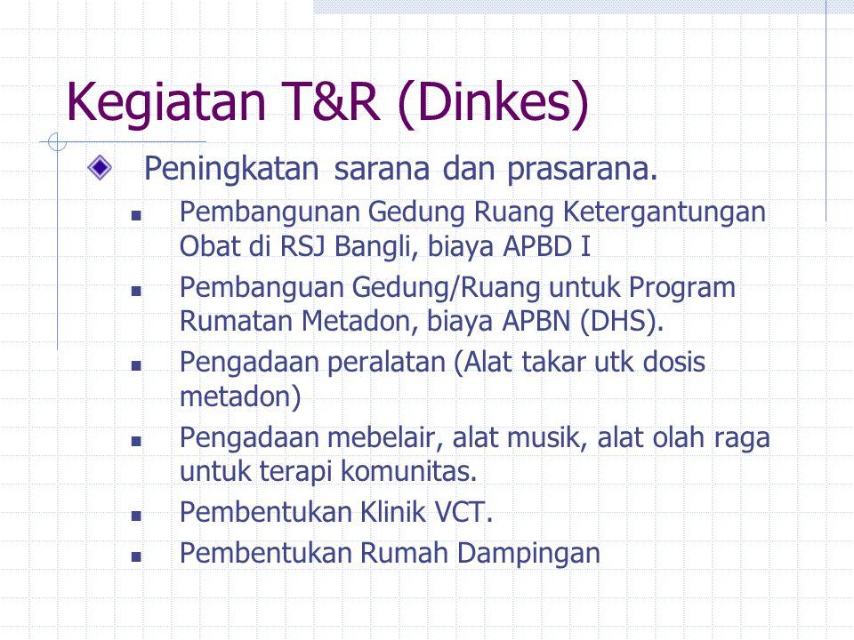 Tempat Terapi dan Rehabilitasi BPK RS Jiwa Bangli Puskesmas Abiansemal RS Sanglah (Program Rumatan Metadon) RS Wangaya Denpasar.