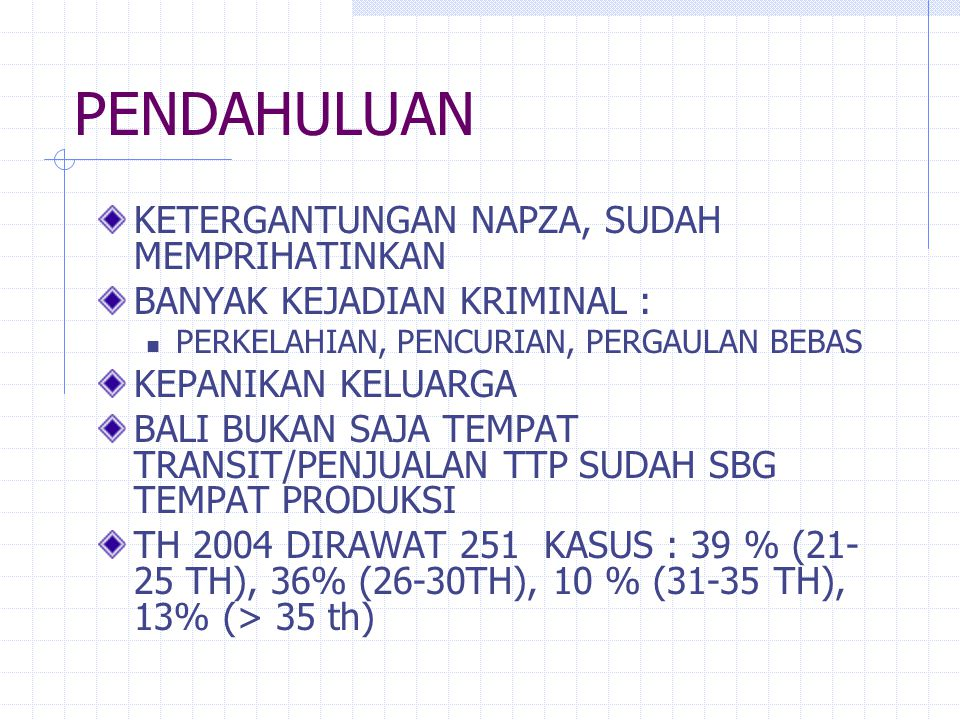 Propinsi Bali Penduduk 3.351.353 Jiwa (susenas 03) Laki 50.65%, Wanita 49.35% Gol Umur :  < 15 th: 847.981 (25%)  15-64 th: 2.295.838 (69%)  > 65 th: 207.534 (6%) Luas : 5.632 Km2 Pemerintahan : 9 Kab/Kota