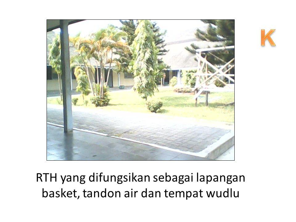 RTH yang difungsikan sebagai lapangan basket, tandon air dan tempat wudlu