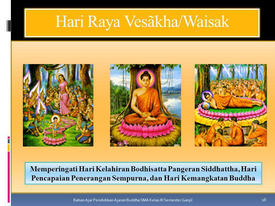 Hari Raya Vesãkha/Waisak Bahan Ajar Pendidikan Ajaran Buddha SMA Kelas XI Semester Ganjil 18 Memperingati Hari Kelahiran Bodhisatta Pangeran Siddhatth