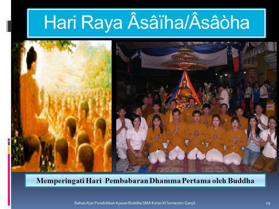 Hari Raya Âsâïha/Âsâòha Bahan Ajar Pendidikan Ajaran Buddha SMA Kelas XI Semester Ganjil 19 Memperingati Hari Pembabaran Dhamma Pertama oleh Buddha