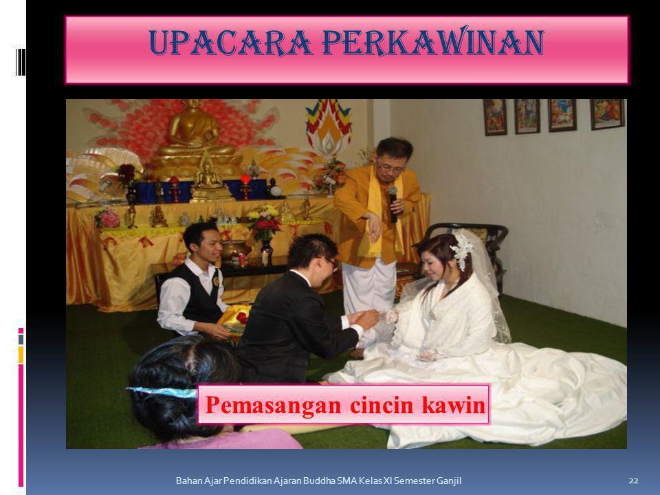 Upacara perkawinan Bahan Ajar Pendidikan Ajaran Buddha SMA Kelas XI Semester Ganjil 22 Pemasangan cincin kawin