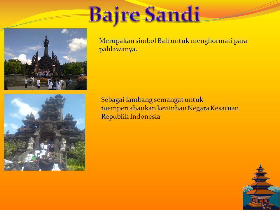 Sebagai obyek wisata andalan pulau Bali sejak tahun 70an dan merupakan tujuan wisata turis mancanegara.