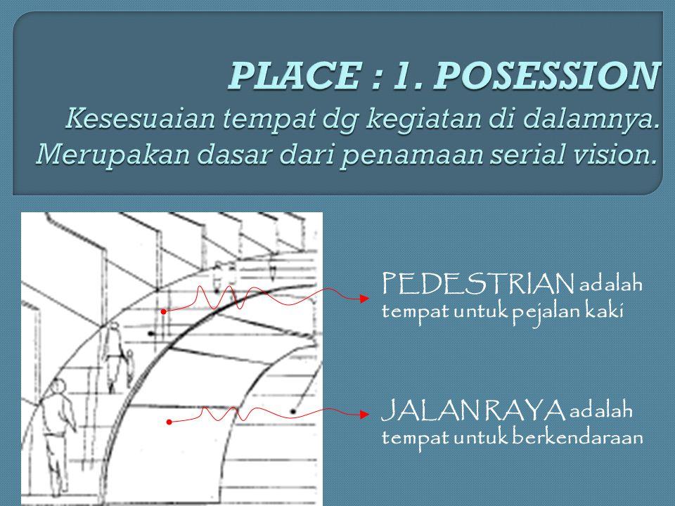 PEDESTRIAN adalah tempat untuk pejalan kaki JALAN RAYA adalah tempat untuk berkendaraan