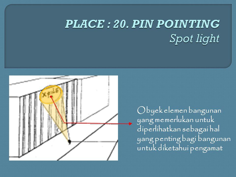 Obyek elemen bangunan yang memerlukan untuk diperlihatkan sebagai hal yang penting bagi bangunan untuk diketahui pengamat