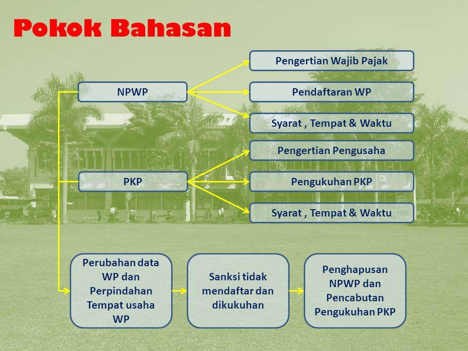 NPWP Syarat Pendaftaran Wajib Pajak Pemungut/Pemotong Fotokopi surat penunjukan sebagai bendaharawan Syarat Pendaftaran NPWP