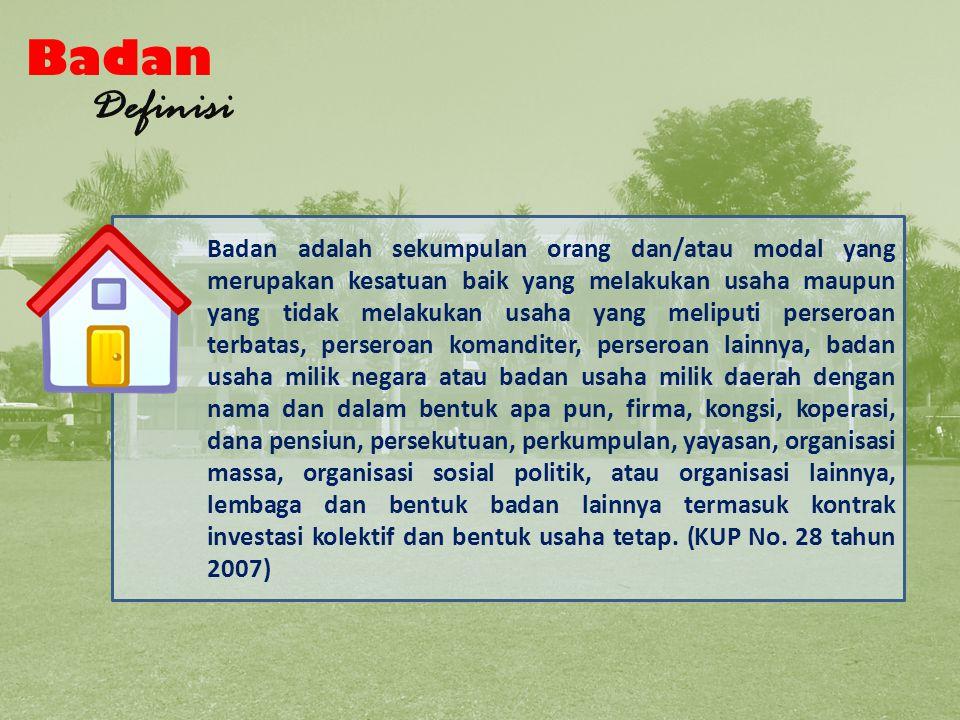 Wajib Pajak Definisi WAJIB PAJAK ORANG PRIBADI BADAN Bagan Wajib Pajak 1