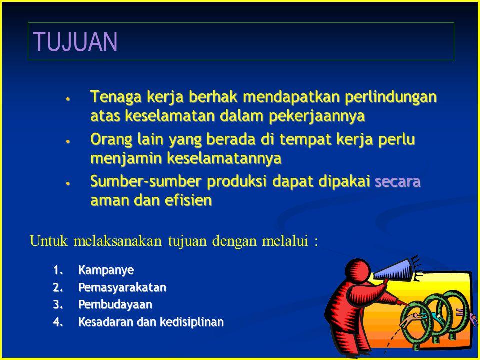 Tenaga kerja berhak mendapatkan perlindungan atas keselamatan dalam pekerjaannya Tenaga kerja berhak mendapatkan perlindungan atas keselamatan dalam p