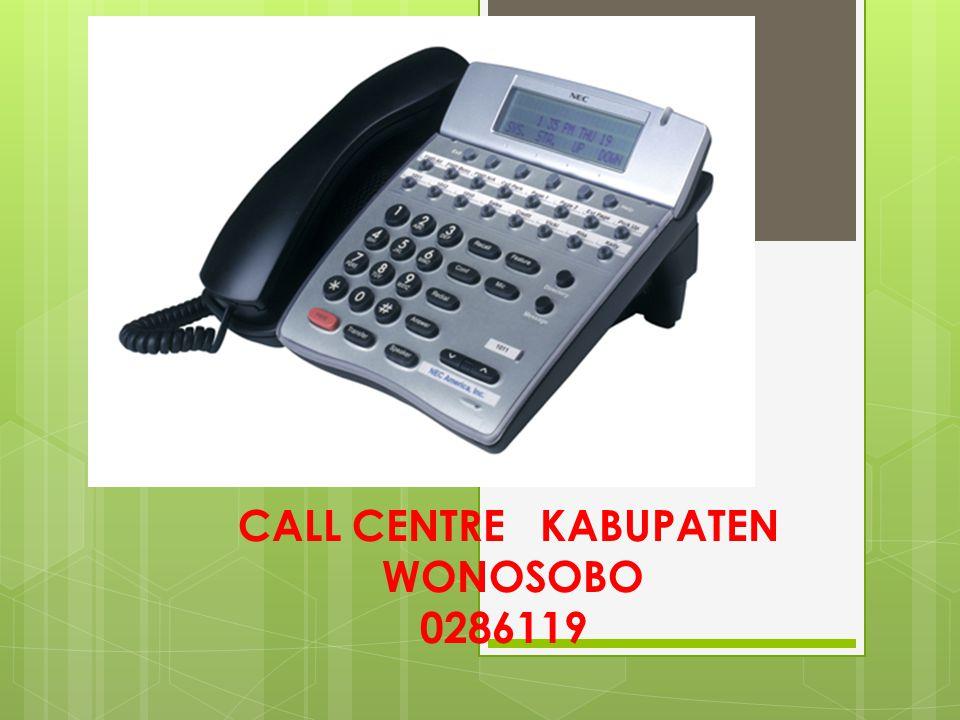 CALL CENTRE KABUPATEN WONOSOBO 0286119