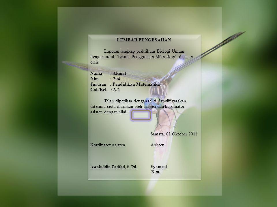 NoHari/TglWaktu dan TempatCatatan AsistenKet Awaluddin Zadfad, S.