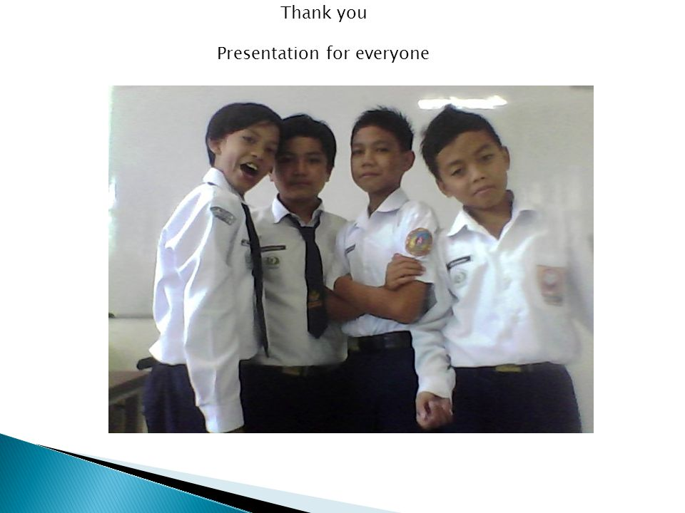 Thank you Presentation for everyone