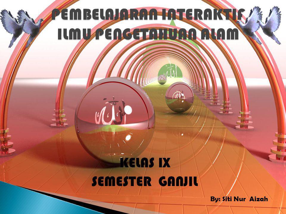 KELAS IX SEMESTER GANJIL By: Siti Nur Aizah
