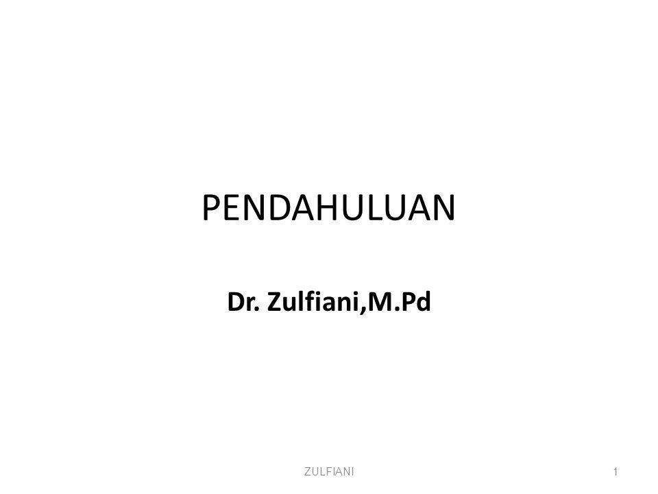 PENDAHULUAN Dr. Zulfiani,M.Pd ZULFIANI1