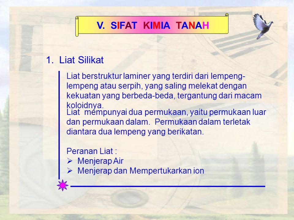 V.SIFAT KIMIA TANAH 1.