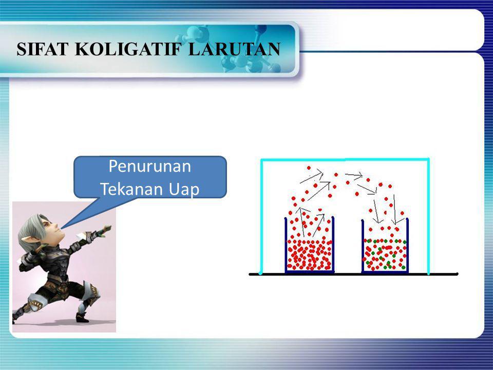 SIFAT KOLIGATIF LARUTAN ELEKTROLIT 8)Tekanan osmotik 4,77 atm ditimbulkan oleh 2liter larutan NaCl (Mr=58,5) pada suhu 25 o C.