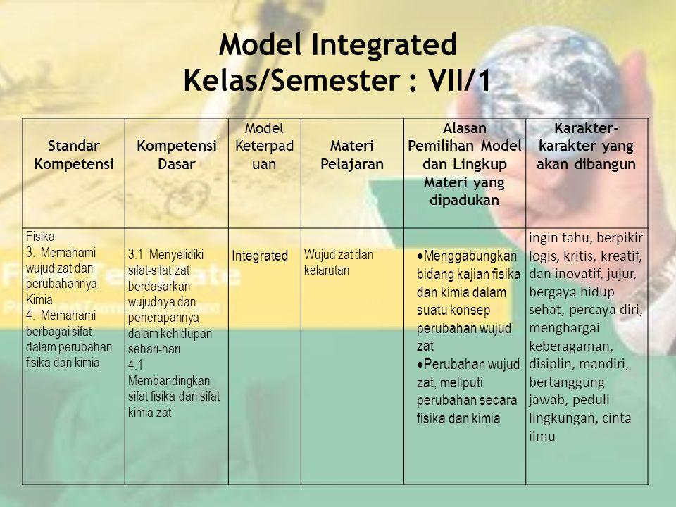 Pelaksanaan Apapun model keterpaduan yang dipilih, pembelajaran harus dijabarkan dari silabus menjadi RPP