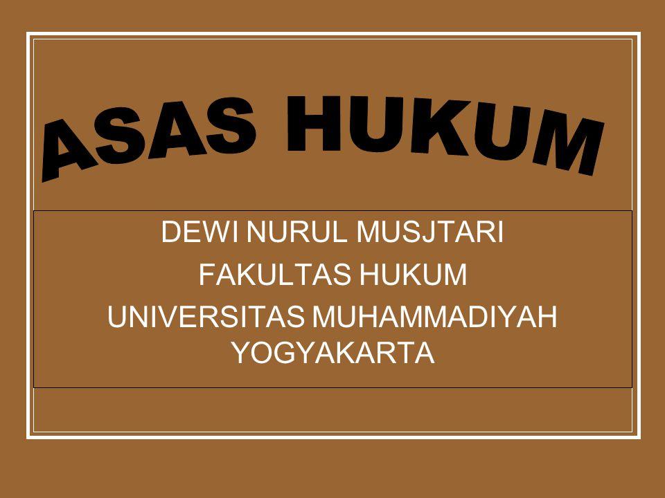 DEWI NURUL MUSJTARI FAKULTAS HUKUM UNIVERSITAS MUHAMMADIYAH YOGYAKARTA
