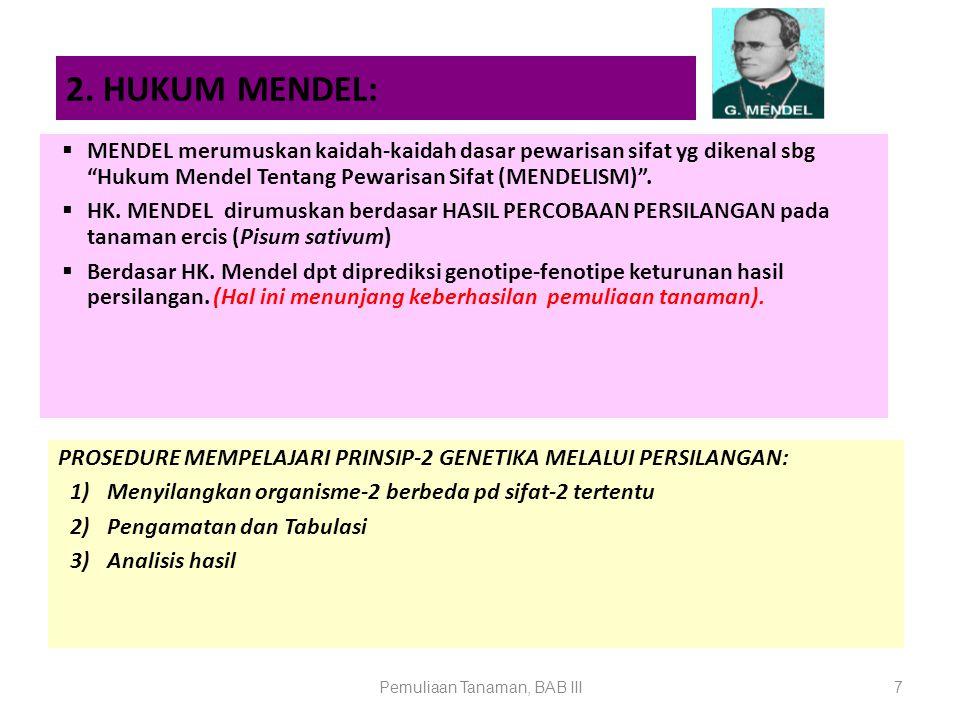 Pemuliaan Tanaman, BAB III8 a).Hk.