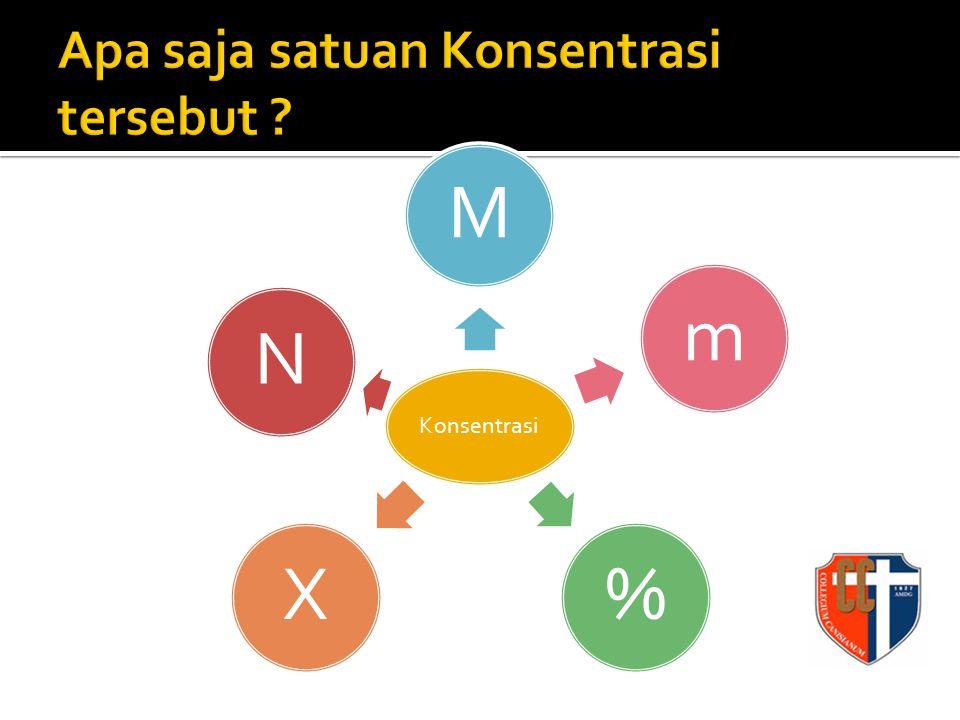 Konsentrasi M m%XN