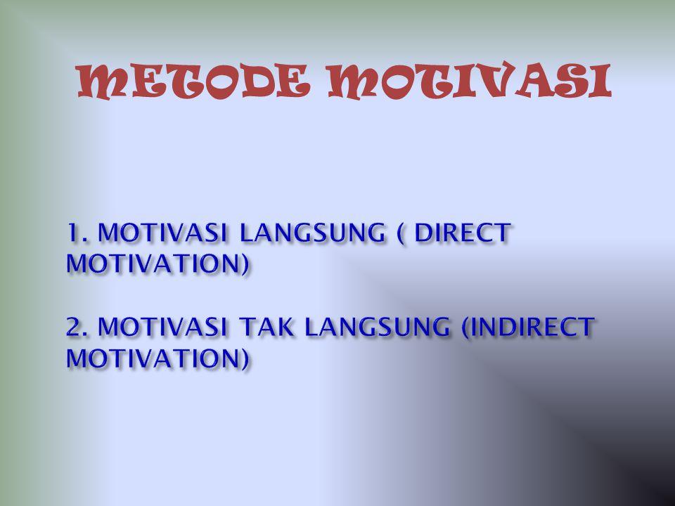 METODE MOTIVASI