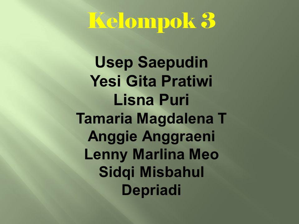 Nama : Usep Saepudin NRP: D3-1108039 No HP: 085221294764 Asal: Ciparai