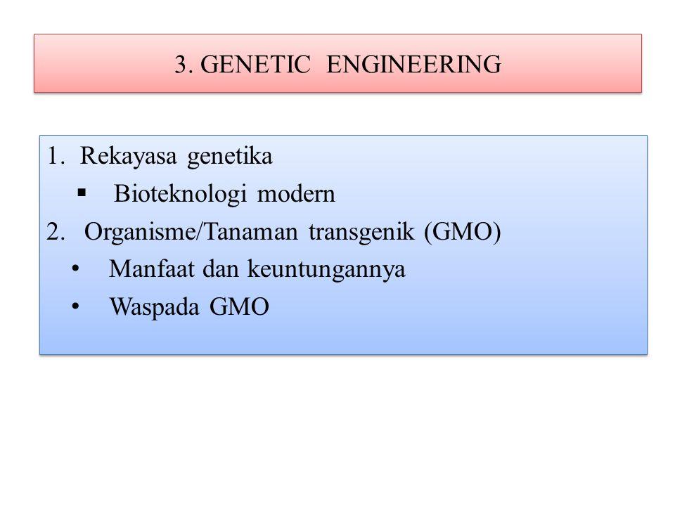 Genetic modified organism (GMO) APA.Mengapa perlu ada.
