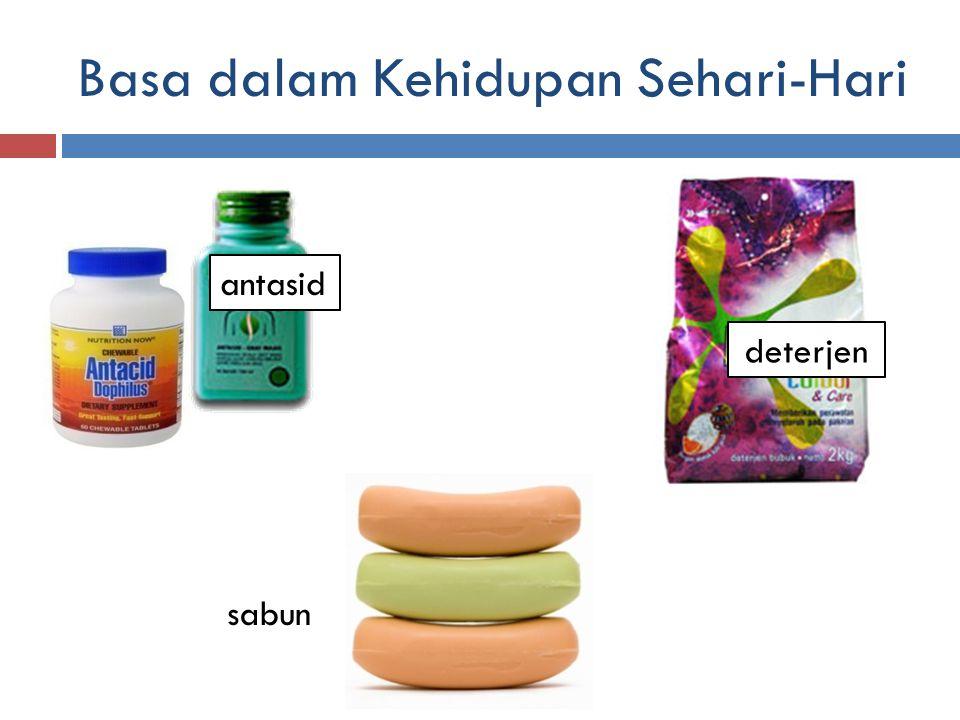 Basa dalam Kehidupan Sehari-Hari antasid sabun deterjen