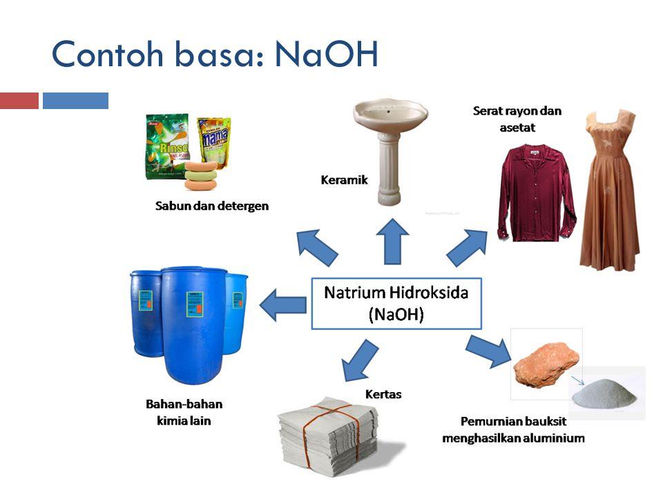 Contoh basa: NaOH