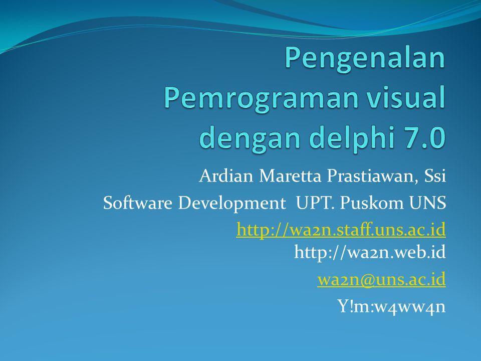 Ardian Maretta Prastiawan, Ssi Software Development UPT.
