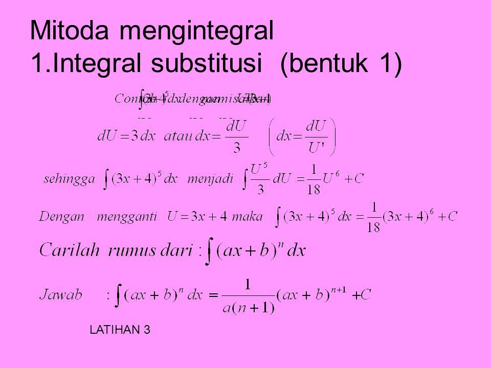 b.Menentukan persamaan kurva yang diketahui gradien garis singgung dan titik yang dilalui LATIHAN 2