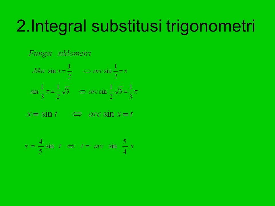 Integral substitusi (bentuk 2) Latihan 5